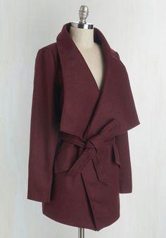 Preferred Pairing Coat in Merlot | Mod Retro Vintage Coats | ModCloth.com
