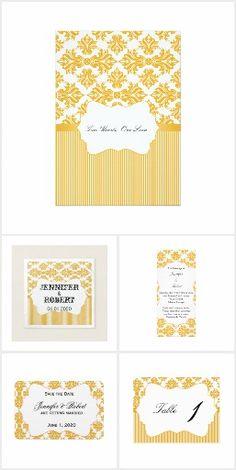 Sunflower and White Damask Wedding Invitation Set, Wedding Invitations, Bright White Background, Damask Wedding, White Damask, Wedding Suits, Reception, Pattern, Beautiful