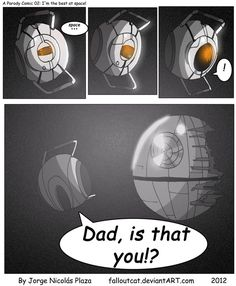 I should be studying, a new page of my comic Updated note : wait what? my comic has more than 120 favorites! A Parody Comic 02 Portal 2 Funny, Portal Wheatley, Portal Art, Aperture Science, Video Game Memes, Nerd Geek, Funny Laugh, Game Art, Combustible Lemons