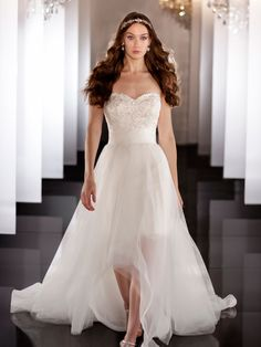 Sweetheart+Beading+Coctail+Length+Bridal+Gown+with+Detachable+Tulle+Skirt