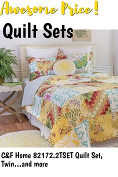 CandF Home 82172.2TSET Quilt Set, Twin ... (This is an affiliate link) #quiltsets
