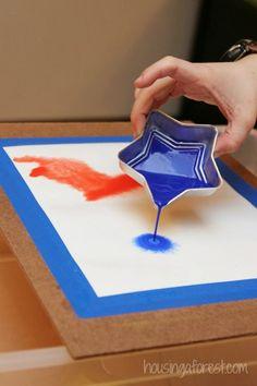 Pour Painting Watercolor ~ process art for kids