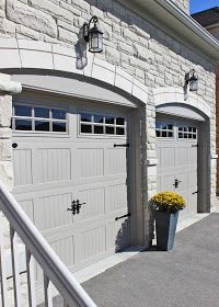 white wood garage door. I Never Thought Would Be So Excited Over A Pair Of Overhead Garage Doors. White Wood Door D