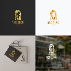 An African inspired logo design by vraione for Aro Afro. #cultural #global #branding