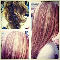 Blonde and red highlights! Such a transformation!