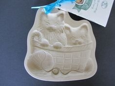 Brown Bag Kitten Basket Cookie Mold with 15th Anniversary Booklet 1998 | eBay