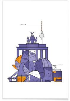 Berlin as Premium Poster