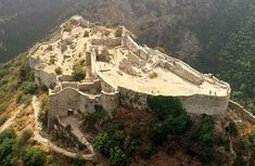 Mystras Fortress- Located Near Ancient Sparta Greece