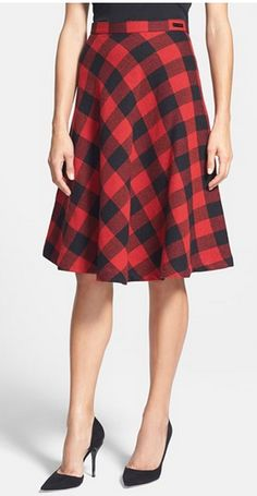 Beautiful buffalo plaid skirt