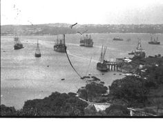 Manly Gas Works and Quarantine anchorage in the Northern Beaches region of Sydney during WWl.      Manly Beach, North Shore, Aerial View, Historical Photos, Geography, Old Photos, Fresh Water, Liverpool, Sydney