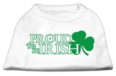 Mirage cat Products 20-Inch Proud To Be Irish Screen Print Shirt for cats, 3X-Large, White >>> See this great image  : Cat Apparel