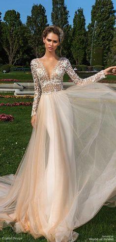 Crystal Design 2018 Wedding Dress #weddingdress