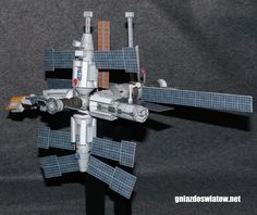 Soviet space station Mir paper model 1:144