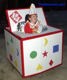 Jack in the Box Halloween wheelchair costume