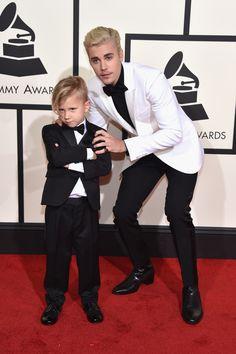 Justin Bieber and his little brother Jaxon   - HarpersBAZAAR.co.uk