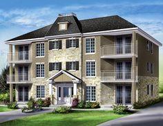 Plan 83117DC: 3 Story 12 Unit Apartment Building