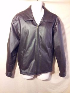 Men's Airborne Leathers Leather Bomber Jacket Aviator Coat Brown EXCELLENT!-L #AirborneLeathers #FlightBomber