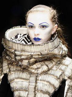 Safety pins by Paris-based English fashion designer Gareth Pugh (b 1981). via dalje