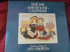 1991 Sarah Jane Calendar Featuring Paintings By Nita Showers