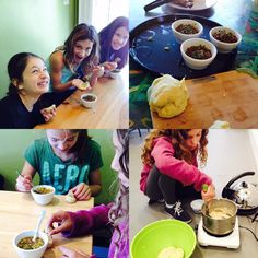Our Art & Academic Enrichment program is studying Africa. Today we made and sampled some traditional foods: fufu Kwan Ga and a spiced lentil soup with turmeric rice made by our own Chef Jonathan. Smells fragrant around the studio!! #kidsartclass #VT #vermont #artclasses #artenrichment