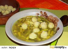 Bramborové knedlíčky do polévky recept - TopRecepty.cz Pickles, Cucumber, Meat, Chicken, Vegetables, Food, Essen, Vegetable Recipes, Meals