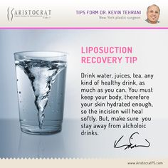 The liposuction recovery process goes smoothly and easy if you follow doctor's instructions. Dr. Kevin Tehrani shares excellent tips on liposuction surgery.