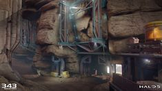 ArtStation - Halo Guardians - Attack of Sanctum & Temple, Aenok Oh Halo 5, Temple, Sci Fi, Artwork, Artist, Painting, Image, Art Work, Science Fiction