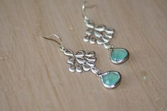 Silver & Mint Earrings by jKlausdesigns on Etsy, $26.00