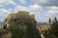 ITALY-Basillicata-Laruenzana-A medieval city established in the 12th century. Here, a medieval castle is pictured. Fortified for its strategic position.
