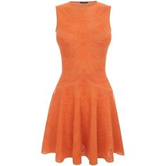Alexander McQueen Orange Spine Lace Dragonfly Circle Mini-Dress ($2,160) ❤ liked on Polyvore