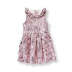 Hydrangea Pink Tweed Dress at JanieandJack