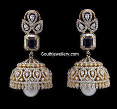 Diamond earrings latest jewelry designs - Page 7 of 53 - Indian Jewellery Designs Diamond Jumkas, Diamond Earing, Diamond Gemstone, Diamond Jewellery, Diamond Studs, Diamond Pendant, Gold Earrings Designs, Necklace Designs, Jhumka Designs