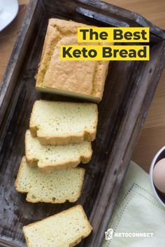 The most popular keto bread recipe on the internet! No Carb Bread, Best Low Carb Bread, Lowest Carb Bread Recipe, Sugar Free Low Carb Recipe, No Carb Recipes, Almond Recipes, Free Recipes, Healthy Recipes, Keto Friendly Bread