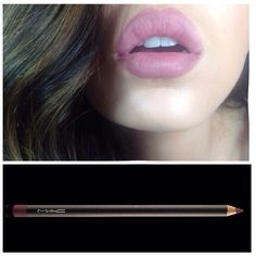 "I'm on that Kylie Jenner lip trend wearing Mac ""Whirl"" lip liner all over!"