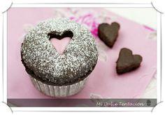 Mi dulce tentación: Magdalenas de Chocolate con Corazón