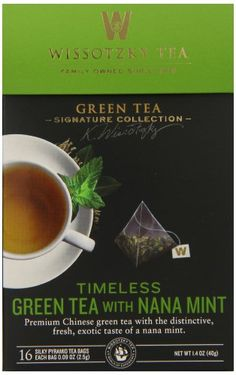 Wissotzky the Signature Collection Tea Timeless Green Tea with Nana Mint 16 Count Pack of 6 * Find out more about the great product at the image link. Note: It's an affiliate link to Amazon.