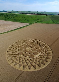 Triangles and Hexagon's Crop circle