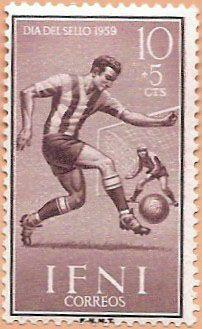 Sello Ifni de 10+5 céntimos, Día del Sello, 1959 - Portal Fuenterrebollo