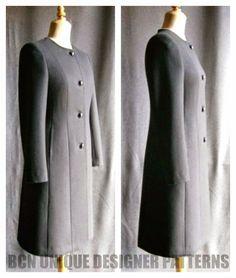 BCN - UNIQUE designer patterns: CASSOCK coat pattern (New release).-