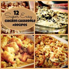 Love this-12 Super Easy Chicken Casserole #Recipes @poshonabudget http://poshonabudget.com/2014/12/12-super-easy-chicken-casserole-recipes.html
