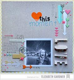 Layout inspiration created using Cut and Paste by Amy Tangerine. #americancrafts #papercraft #layouts