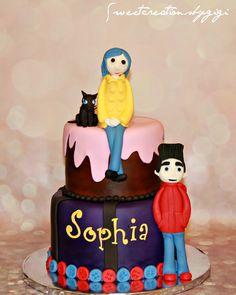 coraline cake topper