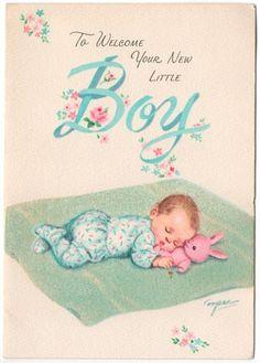 vintage - baby card