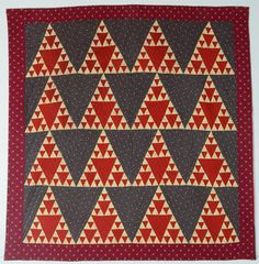 Sugarloaf Quilt: Circa 1890; Pennsylvanie