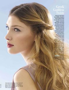 The Greek Goddess hair, lovely. #fashion #celebrity
