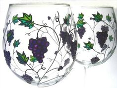 grape glasses with stems