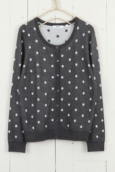 dot jacquard crew neck cardigan ++ niko and...