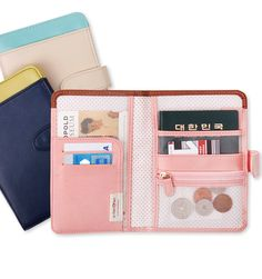 Etc; Button Anti Skimming Passport Wallet by Mochi Things