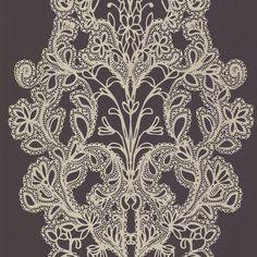 Brewster Wallpaper 302018 Purple Lace