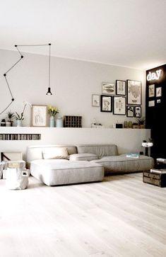 Kombi Heller Boden // Graue Wand // Weiße Decke